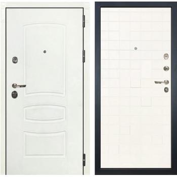 Входная дверь Лекс Сенатор 3К Шагрень белая Тетрис (№56 Ясень белый)