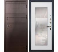Входная металлическая дверь Лекс Легион с Зеркалом Ясень белый (панель №37)