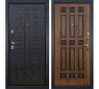 Входная металлическая дверь Лекс Гладиатор 3К Голден патина черная (панель №33)