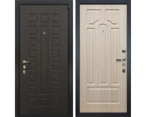 Входная металлическая дверь Лекс 4А Неаполь Mottura Белёный дуб (панель №25)