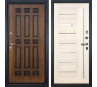 Входная металлическая дверь Лекс Гладиатор 3К Винорит Верджиния Белёный дуб (панель №38)