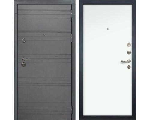 Входная металлическая дверь Лекс Сенатор 3К Софт графит (№59 Белый Винорит)