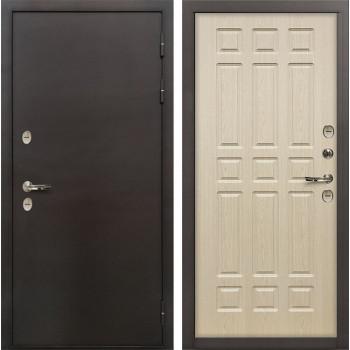 Входная металлическая дверь с терморазрывом Лекс Термо Сибирь 3К Беленый дуб (панель №28)