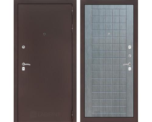 Входная дверь Labirint CLASSIC антик медный 09 - Лен сильвер грей
