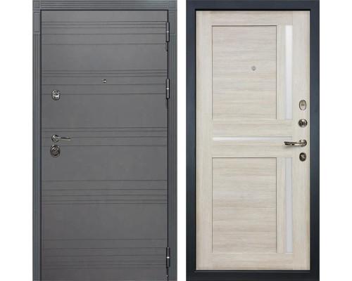 Входная металлическая дверь Лекс Сенатор 3К Софт графит Баджио (№49 Ясень кремовый)