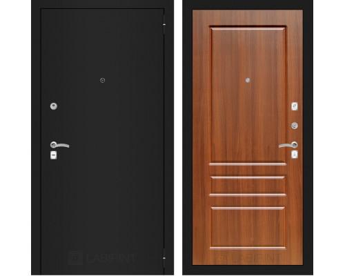 Входная дверь Labirint CLASSIC шагрень черная 03 - Орех бренди