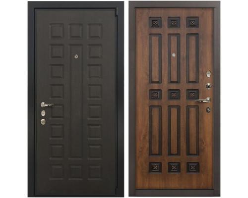 Входная металлическая дверь Лекс 4А Неаполь Mottura Голден патина черная (панель №33)