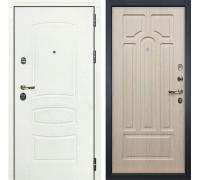 Входная дверь Лекс Сенатор 3К Шагрень белая (№25 Дуб беленый)