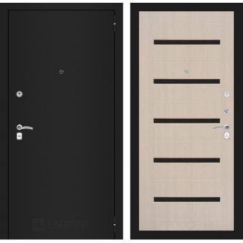 Входная дверь CLASSIC шагрень черная 01 Беленый дуб
