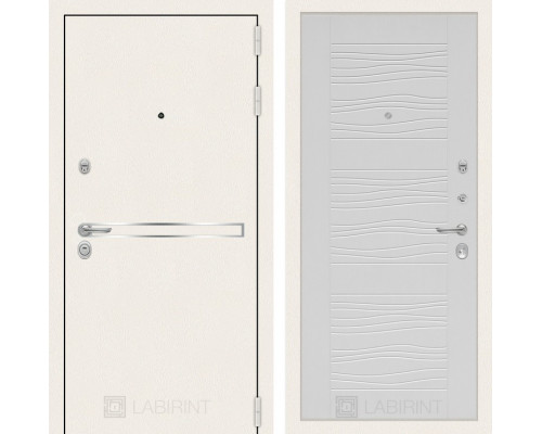 Входная дверь Labirint Лайн WHITE 06 Белое дерево