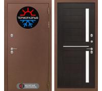 Входная дверь с терморазрывом Labirint Термо Магнит 02 Венге, стекло белое-copy