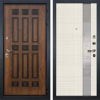 Входная металлическая дверь Лекс Гладиатор 3К Винорит Новита Белёный дуб (панель №52)