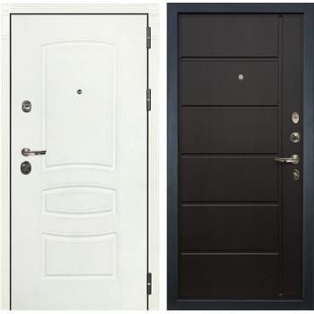 Входная металлическая дверь Лекс Сенатор 3К Шагрень белая (№41 Венге)