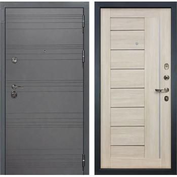 Входная дверь Лекс Сенатор 3К Софт графит Верджиния (№40 Ясень кремовый)