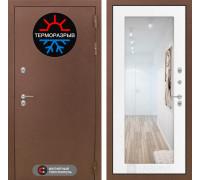 Входная дверь с терморазрывом Labirint Термо Магнит с Зеркалом 18 Белое дерево