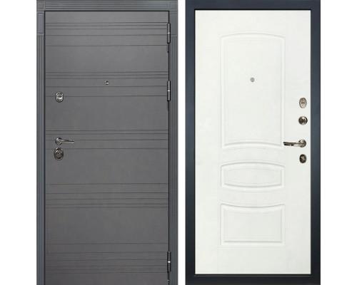 Входная дверь Лекс Сенатор 3К Софт графит (№68 Белая шагрень)