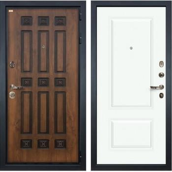 Входная металлическая дверь Лекс Гладиатор 3К Винорит Вероника-1 Эмаль Белая (панель №55)