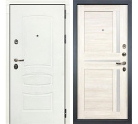 Входная металлическая дверь Лекс Сенатор 3К Шагрень белая Баджио (№47 Дуб беленый)