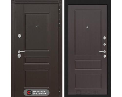 Входная дверь Labirint Мегаполис 03 - Орех премиум