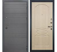 Входная дверь Лекс Сенатор 3К Софт графит (№14 Дуб беленый)
