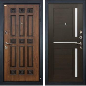 Входная металлическая дверь Лекс Гладиатор 3К Винорит Баджио Венге (панель №50)