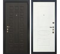 Входная металлическая дверь Лекс 4А Неаполь Mottura Белая шагрень (панель №68)