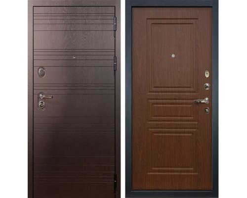Входная металлическая дверь Лекс Легион Береза мореная (панель №19)