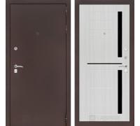 Входная дверь CLASSIC антик медный 02 Сандал белый