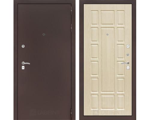 Входная дверь Labirint CLASSIC антик медный 12 - Беленый дуб