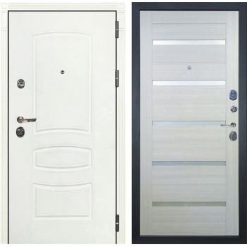 Входная дверь Лекс Сенатор 3К Шагрень белая Клеопатра-2 (№58 Дуб беленый)