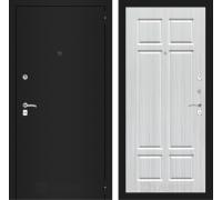 Входная дверь Labirint CLASSIC шагрень черная 08 - Кристалл вуд