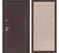 Входная дверь CLASSIC антик медный 04  Беленый дуб