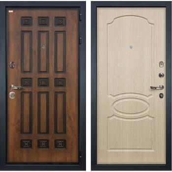 Входная металлическая дверь Лекс Гладиатор 3К Винорит Белёный дуб (панель №14)