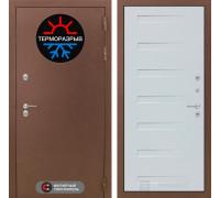 Входная дверь с терморазрывом Labirint Термо Магнит 14 Дуб кантри белый горизонтальный