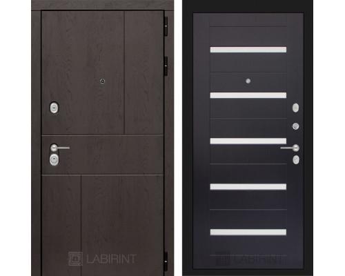 Входная дверь Labirint URBAN 01 - Венге, стекло белое