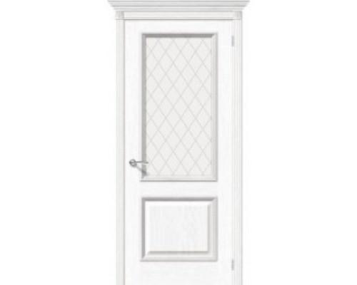 Межкомнатная шпонированная дверь Шервуд ПО белый дуб
