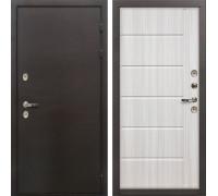 Входная металлическая дверь с терморазрывом Лекс Термо Сибирь 3К Сандал белый (панель №42)