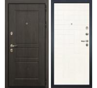 Входная стальная дверь Лекс Сенатор Винорит Ясень белый (панель №67)