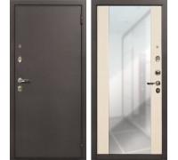 Входная стальная дверь Лекс 1А Стиль с Зеркалом (№45 Беленый дуб)