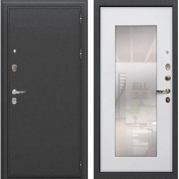 Входная металлическая дверь Лекс Колизей с Зеркалом Ясень белый (панель №37)