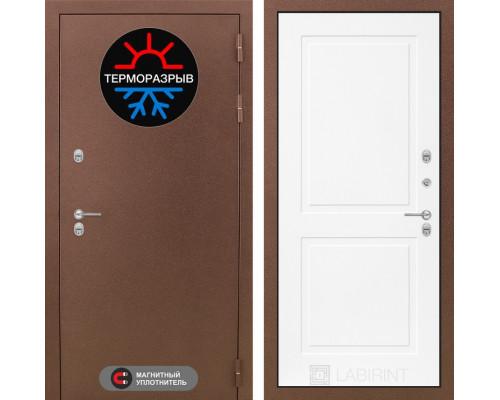 Входная дверь с терморазрывом Labirint Термо Магнит 11 Белый софт