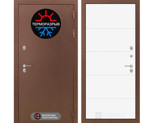 Входная дверь с терморазрывом Labirint Термо Магнит 13 Белый софт