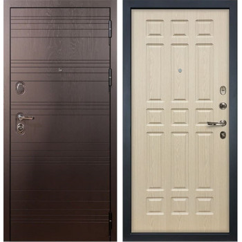 Входная металлическая дверь Лекс Легион Белёный дуб (панель №28)