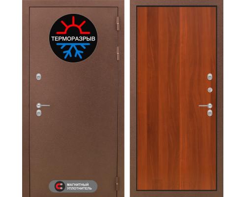Входная дверь с терморазрывом Labirint Термо Магнит 05 Итальянский орех (двери с терморазрывом)
