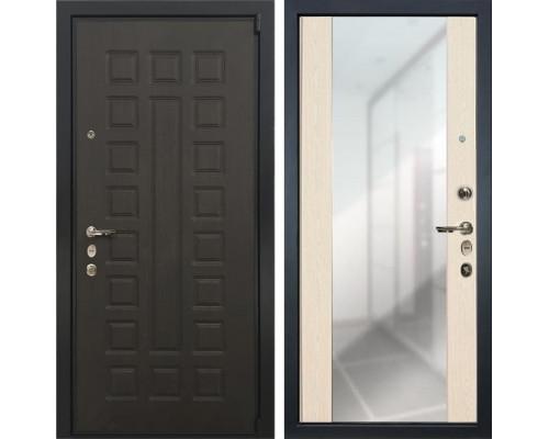 Входная металлическая дверь Лекс 4А Неаполь Mottura Стиль с Зеркалом Дуб беленый (панель №45)