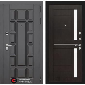 Входная дверь Labirint Нью-Йорк 02 - Венге, стекло белое