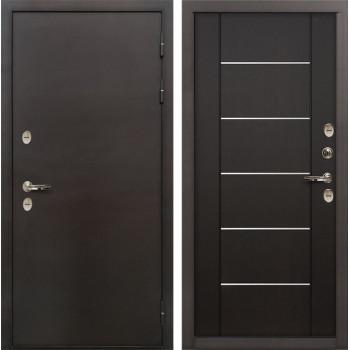 Входная металлическая дверь с терморазрывом Лекс Термо Сибирь 3К Венге (панель №24)