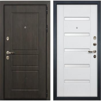 Входная стальная дверь Лекс Сенатор Винорит Ясень белый (панель №34)
