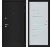 Входная дверь Labirint CLASSIC шагрень черная 14 - Дуб кантри белый горизонтальный