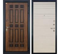 Входная металлическая дверь Лекс Гладиатор 3К Винорит Дуб фактурный кремовый (панель №63)